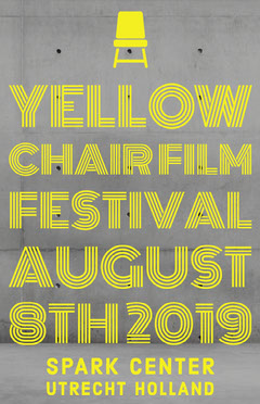 Yellow and Grey Festival Poster Film Festival Poster