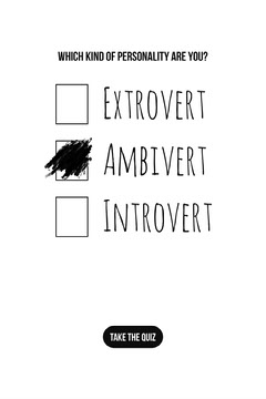Black and White Personality Quiz Pinterest Graphic Quiz Night Poster