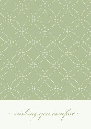 Pale Green Ornate Pattern Sympathy Card Sympatikort
