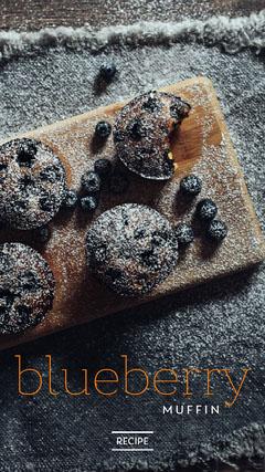 blueberry muffin recipe instagram story Dessert