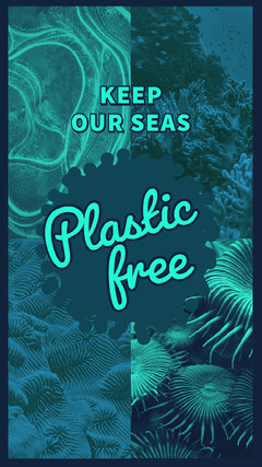 Green and Blue Plastic Free Social Post Earth