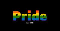 black colorful gay pride flag facebook Pride