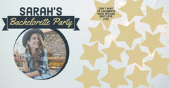 Navy & Gold Stars Party Signatures Facebook Post Party