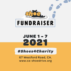 Black and Yellow Shoe Drive Instagram square Yellow