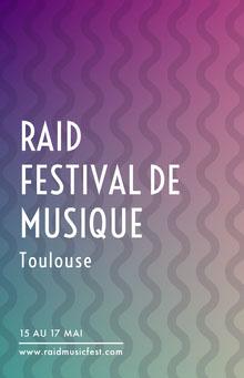 RAID <BR>FESTIVAL DE MUSIQUE Affiche