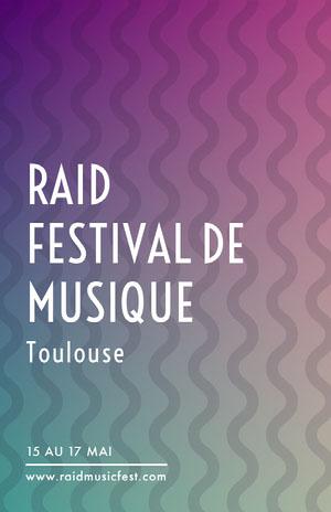 RAID <BR>FESTIVAL DE MUSIQUE Affiche événementielle
