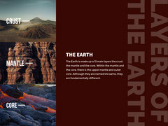 Brown and Warm Toned Layers of The Earth Presentation Card Earth