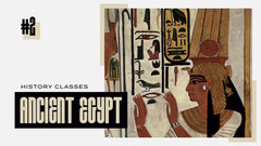Black and Beige, Ancient Egypt History Classes, Youtube Thumbnail  History