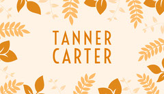 White and Yellow Thanksgiving Turkey Toasts Place Card Leaf