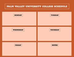 Palm Valley University College Schedule College