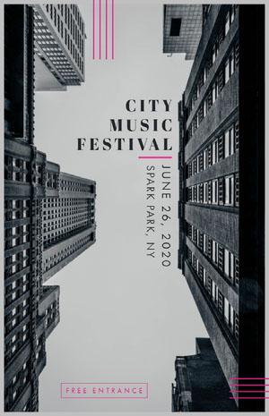 CITY<BR>MUSIC<BR>FESTIVAL Pósters para Festivales de música