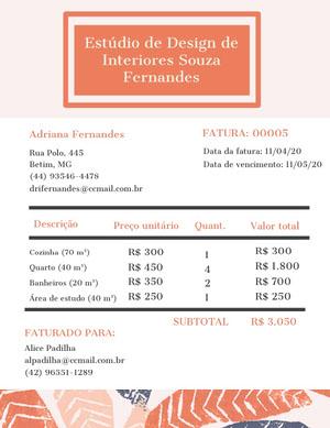 interior design studio invoice  Fatura