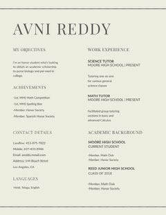 AVNI REDDY  Tutor Flyer