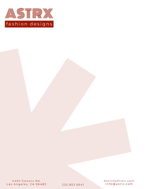 Red Fashion Design Business Letterhead Carte intestate