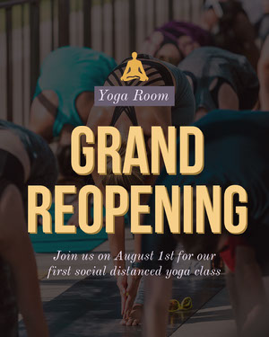 Yellow Yoga Studio Reopening Instagram Portrait  Yoga Posters