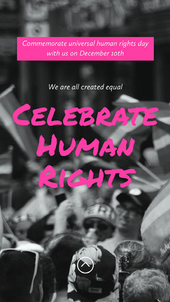 Pink Human Rights Commemoration Instagram Story Awareness