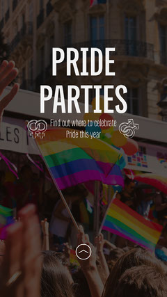 Celebration Pride Parties Instagram Story Rainbow