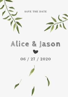 Alice and Jason Hochzeitseinladung