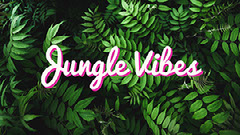Green Foliate Pattern Jungle Vibes Social Media Graphic Pattern Design