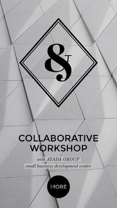 Black and White Workshop Instagram Story Ad Workshop