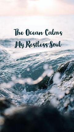 Blue Ocean Calm Iphone Wallpaper Background