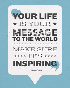 Your Life is Your Message To The World Quote Instagram Portrait Balloon