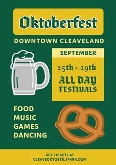 Oktoberfest Food Flyer