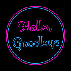 Pink Blue Neon Sign Hello Goodbye Instagram Square Shopping