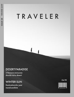 Black and White Traveler Magazine Cover Adventure