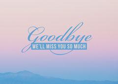 Goodbye Farewell