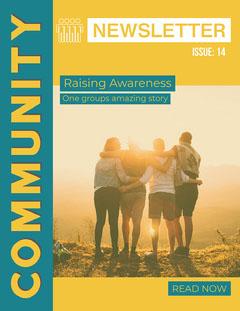 Yellow & Blue Community Newsletter Sunset