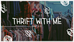 White letters and Dark Toned, Thrift Shop Video Cover, Youtube Thumbnail Shopping