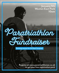 Blue Paratriathlon Fundraiser Instagram Portrait Fundraiser