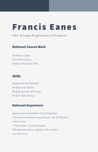 White and Grey Professional Resume CV