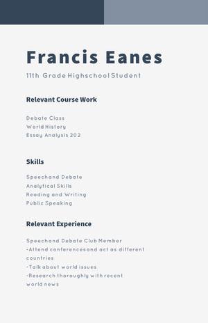 Francis Eanes Acteer-cv
