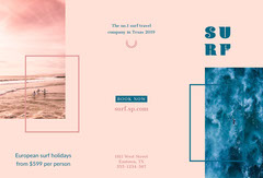 Pink and Blue Surf Brochure  Holiday