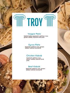 White and Fresh Food Restaurant Menu Food Flyer