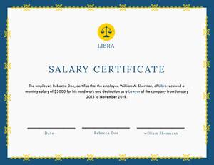 Salary Certificate Zertifikat