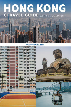 Hong Kong Travel and Tourism Pinterest Graphic with Collage Travel Agency