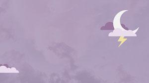 Purple Sky Moon Zoom Background  Wallpaper
