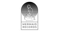 Grey and Black Mermaid Records Facebook Page Cover Logo