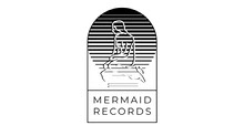 Grey and Black Mermaid Records Facebook Page Cover Cool Logo