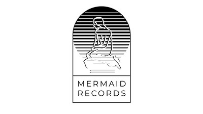 Grey and Black Mermaid Records Facebook Page Cover Ideas de logotipos