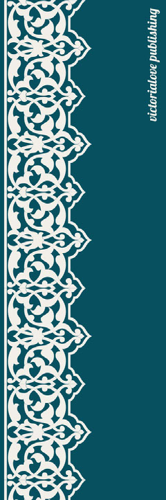 Teal Decorative Bookmark with Pattern Pattern Design