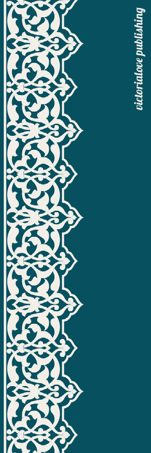 Teal Decorative Bookmark with Pattern Bookmark
