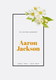 Aaron <BR>Jackson Programa funerario