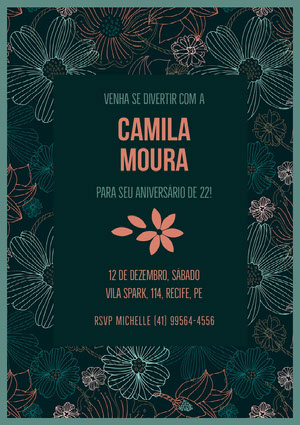 Camila Moura  Convite de aniversário