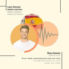 Orange and Yellow Spanish Tutor Instagram Square Tutor Flyer