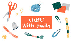 Craft-Themed Illustrated YouTube Channel Art Crafts