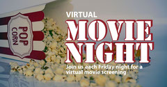 Red and Yellow Popcorn Movie Night Facebook Post Movie Night Flyer